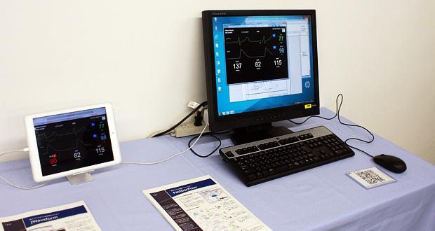12月4日(水)の「ISPオープンラボ」に出展した、医療システム向けコンポーネント「jWaveform」。