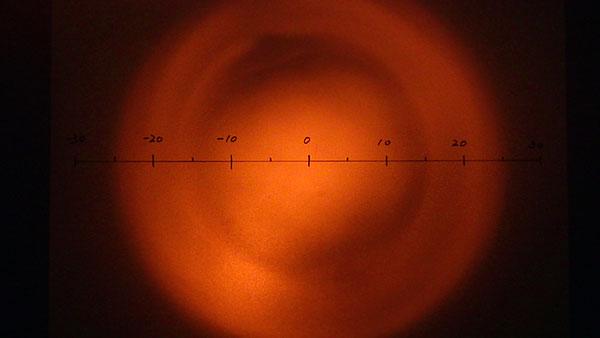 写真1.15°のLEDをそのまま照射