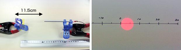 写真5.パイプを使った集光実験様子 その2