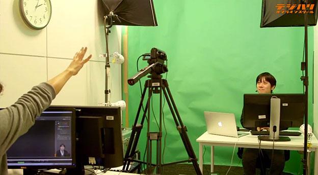 デジタルハリウッド様の本社オフィスで行われている、「ROBUSKEY STUDIO」を活用した動画教材の収録風景