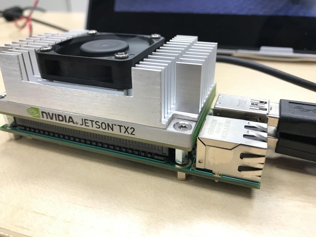 NVIDIA Jetson TX2+AUVIDEA J120+Stereolabs ZED Cameraによる人検出+距離測定デモ